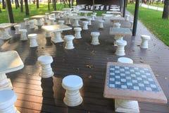 De plaats van het schaakspel Stock Foto's