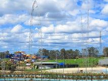 De plaats van het waterpark in openlucht Royalty-vrije Stock Foto's