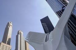 De plaats van het Wereldhandelcentrum in Manhattan, New York, de V.S. stock foto's
