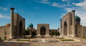 De plaats van Registan in Samarkand Stock Afbeeldingen