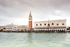 De plaats van San Marco van water wordt bekeken dat royalty-vrije stock afbeelding