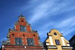 De plaats van Stortorget in stan Gamla, Stockholm Royalty-vrije Stock Foto's