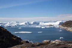 De plaats van Unesco van Ilulissaticefjord, West-Groenland royalty-vrije stock afbeeldingen