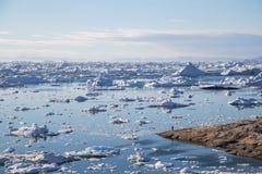 De plaats van Unesco van Ilulissaticefjord, West-Groenland stock fotografie