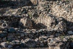 De plaats van Unesco van Choirokoitia in Cyprus stock foto