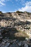 De plaats van Unesco van Choirokoitia in Cyprus stock afbeeldingen