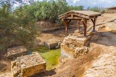 De plaats waar Jeasus in rivierJordan Stock Afbeelding