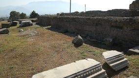 De plaatsen met bewaard blijft van oude stad Pompei in Napels, Italië, opeenvolging stock videobeelden