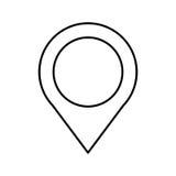De plaatspictogram van de speldwijzer royalty-vrije illustratie