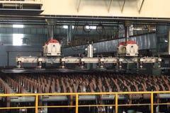 De plaatvervaardiging van het staal stock fotografie