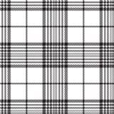 De plaid naadloos patroon van de pixel zwart-wit controle vector illustratie