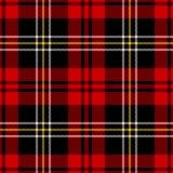 De Plaid van het geruite Schotse wollen stof Royalty-vrije Stock Foto's