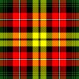 De Plaid van het geruite Schotse wollen stof Royalty-vrije Stock Afbeelding