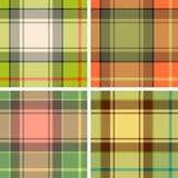 De plaid van het geruite Schotse wollen stof Stock Afbeeldingen