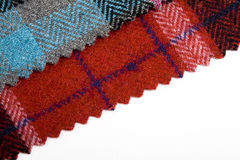 De plaid van het geruite Schotse wollen stof Stock Fotografie
