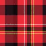 De plaidtextuur van het geruite Schotse wollen stof Stock Fotografie