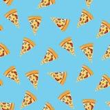 De plak naadloos patroon van de pizza Stock Afbeelding