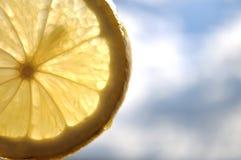 De plak van de citroen Royalty-vrije Stock Foto's