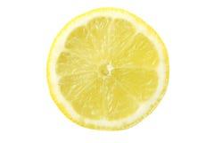 De plak van de citroen die op wit wordt geïsoleerds Stock Afbeelding