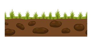De plak van de dwarsdoorsnedegrond isoleerde wat openlucht ondergrondse ecologie van de stukaard en freestanding maak tuin natuur stock illustratie