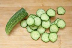 De plak van de komkommer Stock Afbeeldingen