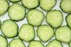 De plak van de komkommer Stock Foto's