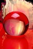 De plak van de kristallen bol en van het agaat Stock Foto