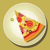 De Plak van de pizza royalty-vrije illustratie