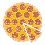 De plak van de pizza Royalty-vrije Stock Fotografie