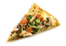 De plak van de pizza Stock Afbeeldingen