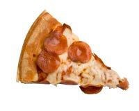De Plak van de Pizza van pepperonis royalty-vrije stock afbeelding