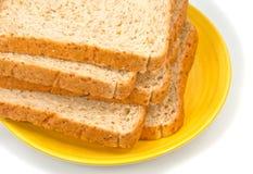 De plak van het brood Stock Foto's