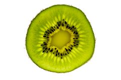 De Plak van het Fruit van de kiwi Stock Fotografie