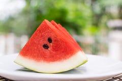 De plak van het watermeloenfruit Royalty-vrije Stock Afbeelding