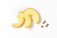 De plakken en de zaden van Apple Royalty-vrije Stock Foto's
