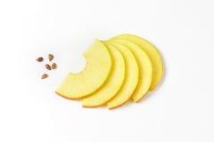 De plakken en de zaden van Apple Royalty-vrije Stock Afbeelding