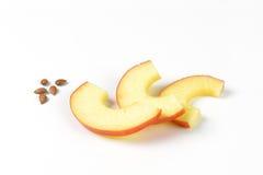 De plakken en de zaden van Apple Stock Afbeeldingen