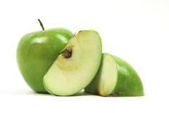 De plakken van de appel Stock Fotografie
