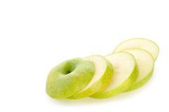 De plakken van de appel Stock Foto