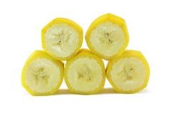 De plakken van de banaan Stock Afbeeldingen