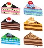 De plakken van de cake Stock Foto's