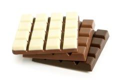 De plakken van de chocolade Stock Foto's