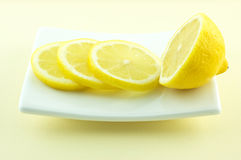 De plakken van de citroen Royalty-vrije Stock Fotografie