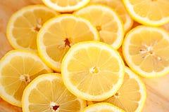 De plakken van de citroen Royalty-vrije Stock Foto's