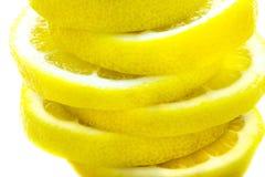 De plakken van de citroen Stock Afbeelding