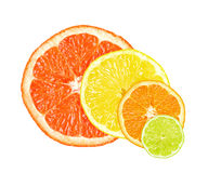De plakken van de citrusvrucht Royalty-vrije Stock Fotografie