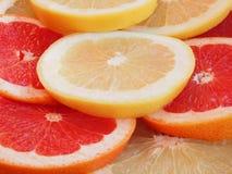 De plakken van de grapefruit Royalty-vrije Stock Fotografie