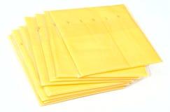 De plakken van de kaas Stock Afbeelding