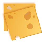 De plakken van de kaas Stock Foto's