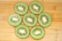 De Plakken van de kiwi Stock Afbeeldingen